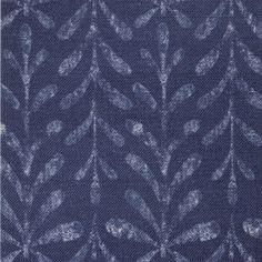 Kaftor Leaf Starlight. Available printed on linen, cotton, cotton linen blends. © Ellen Eden
