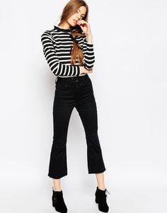 Image 1 ofASOS Kick Flare Trousers in Twill