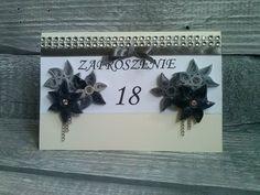 zaproszenie na 18-ste urodziny (na zamówienie) w World of manually made decoration  na DaWanda.com