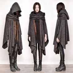 """""""apparently theres a variation of mori girl fashion called dark mori and it literally what an actual witch would wear"""" Dystopian Fashion, Cyberpunk Fashion, Mori Girl Fashion, Cool Outfits, Fashion Outfits, Character Outfits, Mode Inspiration, Fantasy Inspiration, Mode Style"""