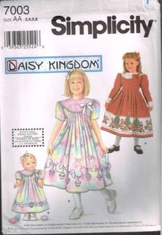"""7003 Sewing Pattern Girls """"Daisy Kingdom"""" Dress w Tucks 3 4 5 6 click picture to enlarge click picture to enlarge click picture to enlarge Thank you for coming in! Please look around my store while yo"""
