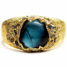 ALEXIS BITTAR Alexis Bittar Jardin de Papillon large butterfly wing labradorite caviar bracelet