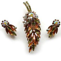 Hattie Carnegie Brooch and Earring Set