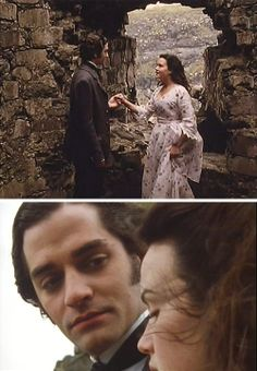 The Buccaneers (1995) Starring: James Frain as Julius Folyat, Duke of Trevennick and Carla Gugino as Annabel St. George.  A chance encounter at the ruins of Trevennick Castle.