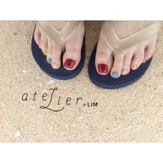 my okinawa foot ▷jr.nailist 芳仲(@eicoto)  #atelierlim#LIM#biiq#ヨシナカ#nail