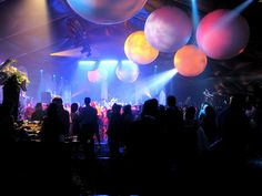 Space-themed holiday party by thisgirlangie, via Flickr