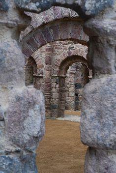 Ruins of Sainte-Marie de Lanleff Church, Brittany, France; 12th c. by Jaufré Rudel
