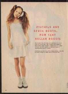 """Sassy, November 1993 - """"Glitterati"""" fashion spread, page 5"""
