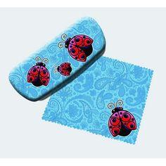 1738c7b61b59 Ladybugs Eyeglass Case and Cleaner