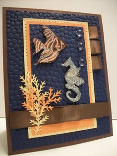 Unda Da Sea  (WT261, CCEE1010, MMSC44)  such a striking card. Love the tiny bubbles on navy