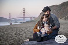 San Francisco Family Photo Session at Baker Beach at sunset. © Bowerbird Photography 2015