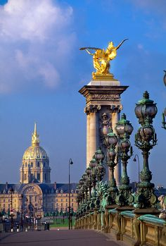 Pont Alexandre III with the Hotel des Invalides in the background, Paris, France (Photo copyright Blaine Harrington III)