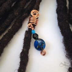 This hair bead is available in various in silver, copper or bronze. Pick one. Size: It comes in various sizes based on request (petite for sisterlocks, sma Diy Loc Jewelry, Dread Jewelry, Dreadlock Jewelry, Dreadlock Accessories, Hair Accessories, Faux Locs Hairstyles, Fancy Hairstyles, Twist Hairstyles, Headband Hairstyles