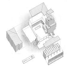 Isometric : Säynätsalo Town Hall, Finland (1952) | Alvar Aalto
