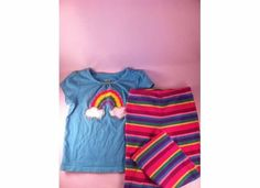 Circo Girl's size 4 Rainbow shirt and Pants outfit Kids Clothes Sale, Pants Outfit, Pajama Pants, Pajamas, Rainbow, Shirts, Outfits, Fashion, Sleep Pants