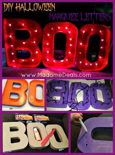 These DIY Halloween Marquee Letters are a perfect way to add some fun to your Halloween decor this year, and cost under $10 to make! #DIY #Halloween