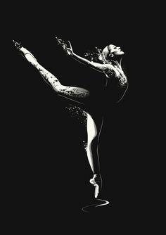 Ballet Dancer by Gianluca Fallone, via Behance