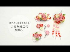 七五三や卒業式に。つまみ細工の髪飾り【手づくりキットの紹介】 - YouTube Ribbon Crafts, Ribbon Bows, Ribbon Hair, Fleurs Kanzashi, Japan Crafts, Diy And Crafts, Handmade, Glitch, Sewing