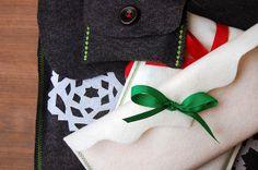 felt gift wrap by rachel.grace, via Flickr