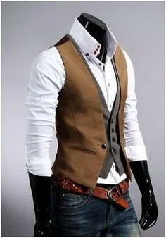 Looking for Men's Trendy Street Fashion? Check out this Men's Double Design Layered Look Vest that fits perfectly with a plain white shirt or any plain color shirt. Take $10 off ! No Coupon Require ! http://www.99wtf.net/men/mens-fasion/latest-mens-casual-trouser-trend-2016/