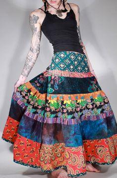 Tribes patchwork hand dyed batik gypsy hippie by ChopstixWaits, $98.00