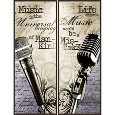 Life with Music, Set of 2, Multicolor