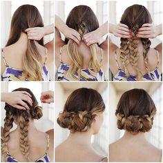 50 Cute and Trendy Updos for Long Hair  #braid #trenzas #moda #belleza #estilo #peinados #hairstyles #hair #cabello