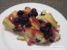 Life of a Foodie and Her Family: Overnight Blueberry French Toast Casserole