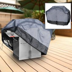 """Durable Barbeque Gas Propane Grill Cover Gray X-Large 71"""" Length"""