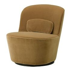 STOCKHOLM Swivel easy chair - Sandbacka dark beige - IKEA.  Wish this could be made taller,