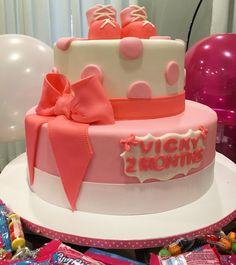 Happy two months old baby! So happy to celebrate one more month of your blessed life lil munchkin! God bless you! (Cake by @yumm_cake_orlando )  #vicky2months #babyvicky @ourlifewithvicky  ___________________  Feliz mesversario meu amor! Muito feliz em celebra mais um mês da vida tão abençoada! Que Deus te abençoe princesinha! (Torta @yumm_cake_orlando )  by bellafalconi