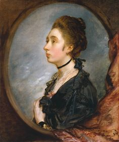 The Artist's Daughter Margaret, Thomas Gainsborough, ca. 1772, TC N01482 [What a great hairstyle to copy!]