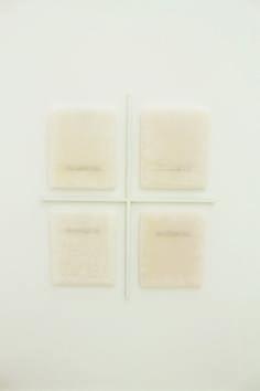Elena Modorati, Una finestra (tre). Una, cento aurore, ferro, cera, carta giapponese, 60x50cm., 2015