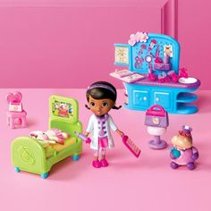 All you need to help Doc McStuffins treat all her toys! This 20-piece set includes Doc, Lambie, Hallie and all her doctor equipment. Ages 3 and up. Plastic. Imported. Warning: CHOKING HAZARD Small parts. Not for children under 3 years. Disney