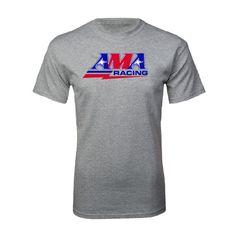 American Motorcyclist Association Sport Grey T Shirt AMA Racing