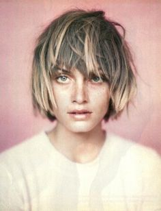 Fancy - short hair with bangs and ombre - New Trend: Short Hair with Bangs and Ombre: Ombre