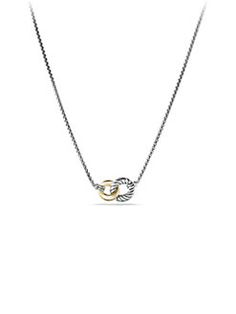 David Yurman - Belmont Curb Link Double Link Necklace with Gold