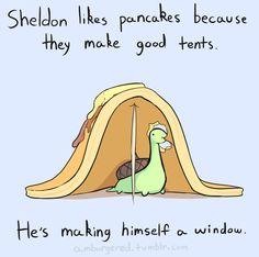 Sheldon the tiny dinosaur who thinks he's a turtle. His shell is an acorn. @Scott F Vintage Larson