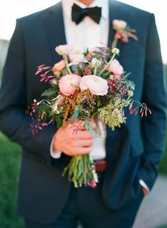 eclectic wedding bouquet // photo by Taylor Lord // flowers by Stems Floral