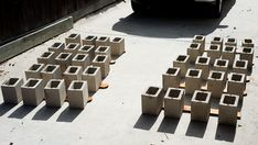 How to paint cinder blocks (which seals them for years of outdoor use, and can be colorful)