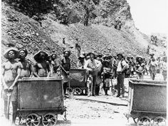 size: Photographic Print: Zulu 'Boys' Working at De Beers Diamond Mines, Kimberley, South Africa, : Diamond Trade, Diamond Mines, Diamond City, African Diamonds, English Projects, Jewelry For Her, Boho Jewelry, African History, Old Photos