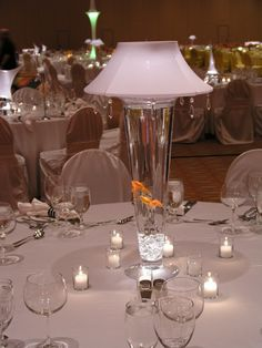 Lighted Vase Lamp Shade (shines up and down) & White with Crystals Lampshade $160 (vase sold separately)