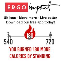 Our new Ergo Impact Healthy Workplace Reminder App is the perfect companion for the . Standing Desk Chair, Stand Up Desk, Workplace, App, Healthy, Apps, Health, Leaning Desk