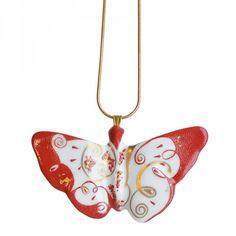 Limoges Porcelain Jewelry - Butterfly Necklace#necklace #handmade #handpainted #love #porcelain #limoges #madeinfrance #saintvalentin #cadeau #paris #france