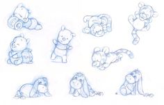 Baby Pooh, Tigger and Eeyore of ShaneMadeArt. on - Baby Pooh, Tigger and Eeyore of ShaneMadeArt. Disney Babys, Cute Disney, Baby Disney, Disney Art, Disney Crafts, Pooh Baby, Winnie The Pooh Nursery, Disney Doodles, Love Drawings