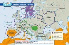 Viking - Invasions in Europe, European History, World History, Family History, Art History, History Images, Vikings, Historia Universal, Viking Life, Historical Art