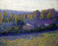 Autumn Afternoon, Giverny, Undated Painting by Lilla Cabot Perry