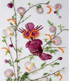 Vegetable painting by Ukrainian food artist Tamara Bondar Ukrainian Recipes, Ukrainian Food, Vegetable Painting, Food Artists, Stone Painting, Onion, Paper Art, Floral Wreath, Arts And Crafts
