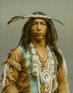 Arrow Maker - An American Indian of the Chippewa Nation.