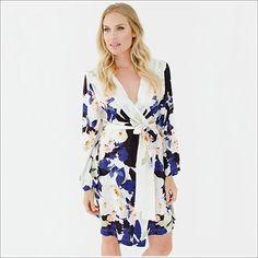 Kimono Style. Knee Length Robe. Elysian.